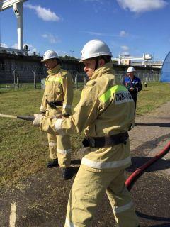На огневом рубеже - производственно-техническая службаНа Чебоксарской ГЭС прошли соревнования пожарных-добровольцев РусГидро