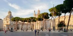 На улице Императорских форумов.Римские каникулы Тропой туриста Рим Италия
