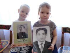 Никита Крайнов и Ярослава Бацман.Мой прадед сражался на страшной войне Память поколений Дошколенок День Победы Бессмертный полк