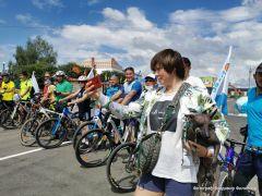 Общее фото в ЯльчикеЗавершился велопробег на 100 км в честь 100-летия Чувашской автономии  велопробег 100 лет Чувашской автономии