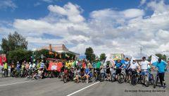 Общее фото в Яльчике.Завершился велопробег на 100 км в честь 100-летия Чувашской автономии  велопробег 100 лет Чувашской автономии