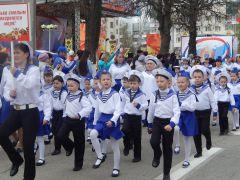 Парад дошколят и юнармейцев прошел на Красной площади Парад дошколят