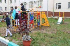 Площадка от Чебоксарской ГЭС, открытая в 2016 гЧебоксарская ГЭС открыла спортплощадку в детском отделении противотуберкулезного диспансера РусГидро