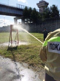 По мишени цельсь!На Чебоксарской ГЭС прошли соревнования пожарных-добровольцев РусГидро