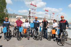 Победители велоконкурса Гидроэнергетики Чебоксарской ГЭС подержали Всероссийскую акцию  «На работу на велосипеде» РусГидро