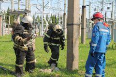 Пожарные и оперативная смена ГЭСНа ОРУ 500/220 Чебоксарской ГЭС потушили условный «пожар» РусГидро