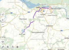 Карта маршрута велопробегаЕжегодный XIII велопробег в Аликово ко дню Победы - веломарш-бросок «С-13» День Победы велопробег 9 мая