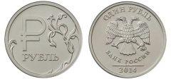 На монете символ рубля Палитра событий