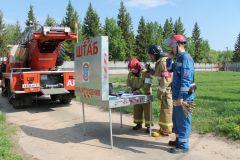 Штаб пожаротушенияНа ОРУ 500/220 Чебоксарской ГЭС потушили условный «пожар» РусГидро