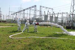 Тушение условного пожараНа ОРУ 500/220 Чебоксарской ГЭС потушили условный «пожар» РусГидро