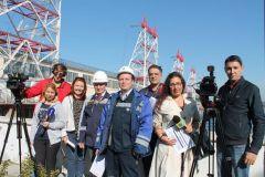 Участники пресс-тураПервая в Чувашии сейсмологическая сеть оборудована на Чебоксарской ГЭС РусГидро