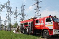 УченияНа ОРУ 500/220 Чебоксарской ГЭС потушили условный «пожар» РусГидро