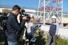 В.Бардюков отвечает на вопросы журналистовПервая в Чувашии сейсмологическая сеть оборудована на Чебоксарской ГЭС РусГидро