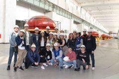 В машинном зале130 студентов-гидротехников познакомились с Чебоксарской ГЭС РусГидро