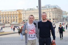 Тренер со своим учеником Евгением Дмитриевым.Андрей Ананьев: Бокс – интеллектуальная игра на больших скоростях Профессионал