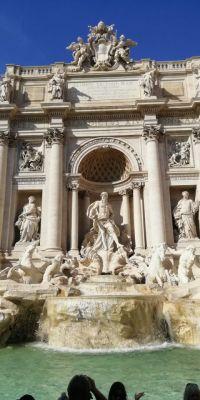 Знаменитый фонтан Треви в Риме.Римские каникулы Тропой туриста Рим Италия
