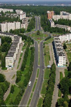 Фото http://www.airfotovideo.ruУпор на новые микрорайоны жилье День строителя