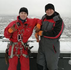 Фото из личного альбома  Алексея АндрееваАлексей Андреев: Да, альпинист! Нет, не страшно! Человек труда промышленный альпинизм