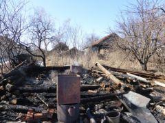В Юраково баня сгорела дотла пожар ЧП