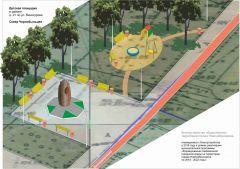 Детская площадка  в районе дома № 21  по ул. Винокурова.Улица Винокурова: выбираем памятник Комфортная городская среда