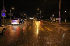 Место ДТП. Фото: ГИБДДСмертельное ДТП в Новочебоксарске: погибла женщина ДТП со смертельным исходом
