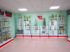 """В ледовом дворце """"Сокол"""" открылся музей новочебоксарского хоккея ХК Сокол музей хоккейной славы Новочебоксарска"""