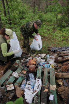 Молодые экологи очистили Завольже от мусора
