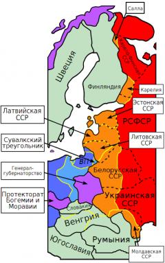 Фактические территориальные изменения к 1941 году. Худой мир лучше войны Дата