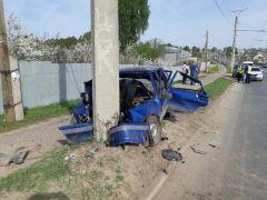 Место ДТП35-летний чебоксарец уснул за рулем и врезался в столб ДТП
