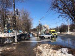 Место ДТП 1В Новочебоксарске с начала 2021 года произошли два ДТП с участием несовершеннолетних ДТП с несовершеннолетним