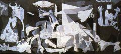 """Картина Пабло Пикассо """"Герника"""" стала символом жестокости войны. Она была написана автором в 1937 году после того, как мир потрясла бомбардировка франкистскими самолетами небольшого баскского города Герники.Войны — это крушение империй"""