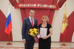 Благодарность и часы от Главы Чувашской Республики вручены новочебоксарцам