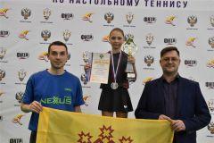 Анастасия Иванова выиграла «серебро» на первенстве России по настольному теннису настольный теннис