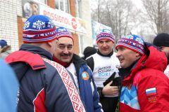 Олег Николаев принял участие в «Лыжне России –2021» Лыжня России-2021