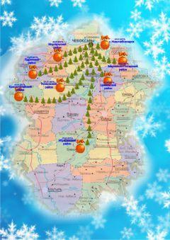 """Карта """"Новогоднего лабиринта""""Жителей и гостей Чувашии приглашают провести каникулы в """"Новогоднем лабиринте"""" новый год 2017 туризм в Чувашии время отдыхать в Чувашии"""