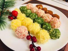 Креативная закуска в шариках. Вариант 1Чтобы 2020-й принес удачу Семейный стол Новый год - 2020