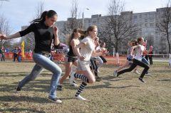 Весенний кросс перед эстафетой  легкая атлетика К 65-летию Победы
