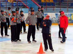 62 главных и линейных судьи Поволжья вышли на лед для сдачи нормативов. Фото автораНорматив для хоккейного рефери хоккей ХК Сокол судьи