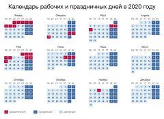 Календарь выходных дней в 2020 годуПравительство России утвердило календарь выходных дней в 2020 году календарь