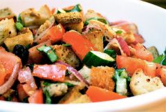 Хлебный салат по-итальянскиЛетние рецепты Семейный стол