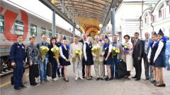 В Чувашию для празднования 55-летия первого полета Андрияна Николаева в космос прибыли легендарные космонавты