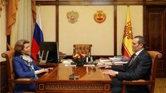 Михаил Игнатьев встретился с генеральным директором Института внешнеполитических исследований и инициатив Вероникой Крашенинниковой