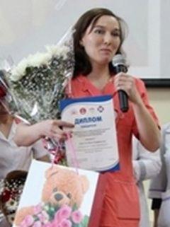 Инна Парусова.Лучшая медсестра  республики медсестра