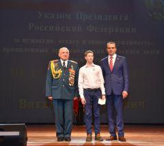 Михаил Игнатьев принял участие в торжественном мероприятии, посвящённом Дню защитника Отечества