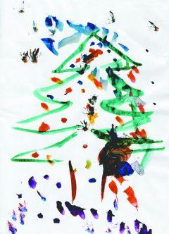 Новогодний фейерверк. Рисунок Нелли Ивановой, 2 годаЯ хочу, чтоб в Новый год... На Парнасе