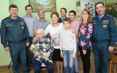 Михаилу Попову - 96Старейший пожарный Чувашии отметил 96-летие пожарная безопасность