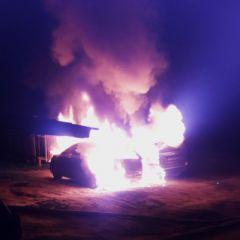 Фото с сайта http://21.mchs.gov.ruВ Новочебоксарске две иномарки пострадали от поджога  поджог автомобилей