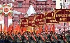Историческую часть парада открыли знаменные группы, они пронесли перед трибунами штандарты 10 фронтов. Слава победителям! парад Победы 75 лет Победе