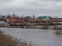 Паводок: в Батыревском районе Чувашии подтоплены дома и часть автодороги  паводок