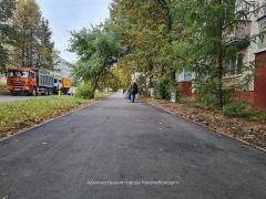 РемонтПо ул. Солнечной в Новочебоксарске отремонтировали тротуар и стоянку для автомобилей Реализация нацпроекта